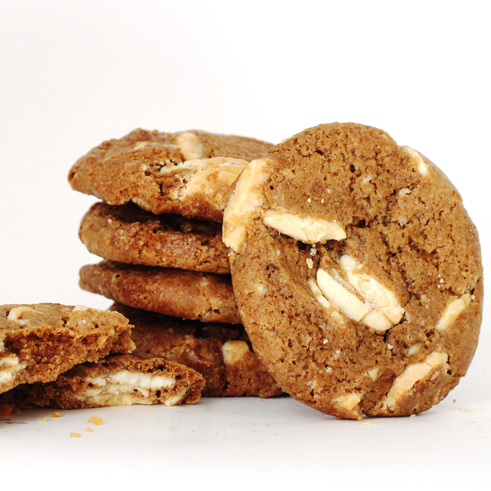 Stack of Coffee Liqueur White Chocolate Cookies