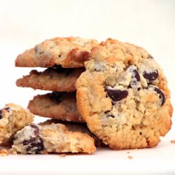 Stack of Almond Joy Cookies