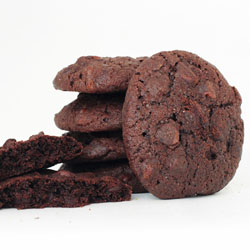 Stack of Double Fudge Cookies