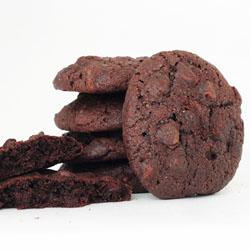 Stack of Double Fudge Cookies