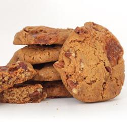 Stack of Caramel Pecan Cookies