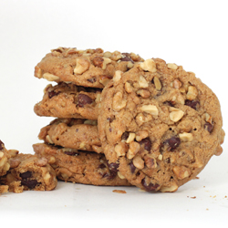 Stack of Chocolate Chip Walnut Cookies