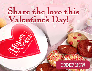 Share the love this Valentine's Day with cookies from Hope's Cookies!!