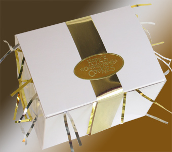 gold ribbon box