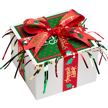 Happy Holidays Cookie Gift Box with Ribbon