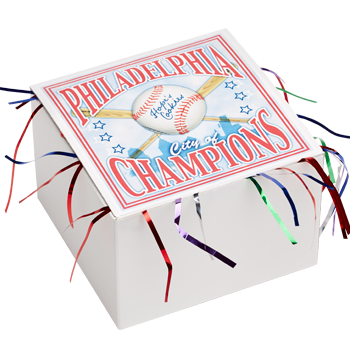 Phillies Champions Cookie Gift Box with Tinsel