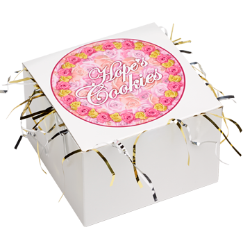 Flower Cookie Gift Box with Tinsel