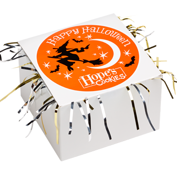 Halloween Cookie Gift Box with Tinsel