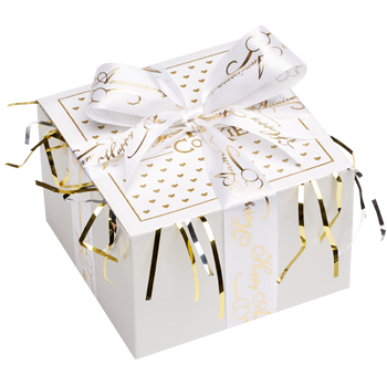 Anniversary Cookie Gift Box with Ribbon