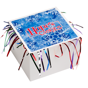 Snowflake Cookie Gift Box with Tinsel