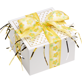 Yellow Ribbon Cookie Gift Box