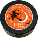 Halloween Cookie Gift Tin in Black