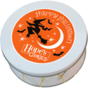 Halloween Cookie Gift Tin in White