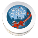 Holiday Cookie Gift Tin in White