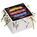Congratulations Cookie Gift Box with Tinsel