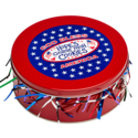 God Bless America Cookie Gift Tin in White