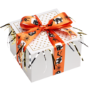 Halloween Pumpkin Cookie Gift Box with Ribbon