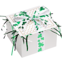 St. Patrick's Day Cookie Gift Box with Ribbon