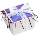 Congratulations Cookie Gift Box with Ribbon