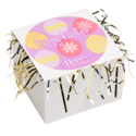 Happy Easter Cookie Gift Box with Tinsel