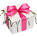 Hot Pink Ribbon Cookie Gift Box