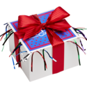 Festive Cookie Gift Box with Red Ribbon