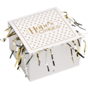 Gold Foil Cookie Gift Box with Tinsel