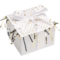 Gold Star Ribbon Cookie Gift Box