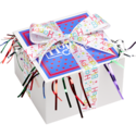 Birthday Cookie Gift Box with Ribbon