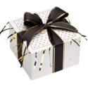 Tuxedo Cookie Gift Box with Ribbon