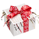 Red Hearts Ribbon Cookie Gift Box