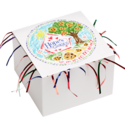 Kid's Art Cookie Gift Box with Tinsel