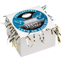 Philadelphia Eagles Cookie Gift Box with Tinsel