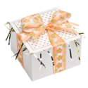 Orange Flower Ribbon Cookie Gift Box