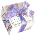 Spring Purple Ribbon Cookie Gift Box