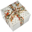 Thanksgiving Cookie Gift Box with Ribbon