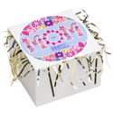 Mom Cookie Gift Box with Tinsel