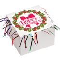 Christmas Wreath Cookie Gift Box with Tinsel
