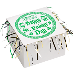 St Patrick's Day Cookie Gift Box with Tinsel