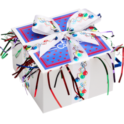 Balloon Ribbon Cookie Gift Box