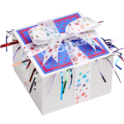 Colorful Star Ribbon Cookie Gift Box