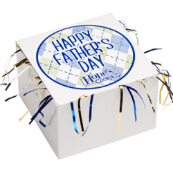 Father's Day Cookie Gift Box with Tinsel