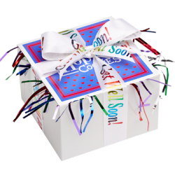 Get Well Cookies Gift Box with Ribbon