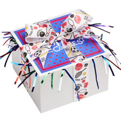Sports Ribbon Cookie Gift Box