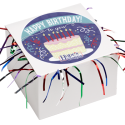 Birthday Cookie Gift Box with Tinsel