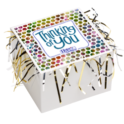 Thinking of You Cookie Gift Box with Tinsel