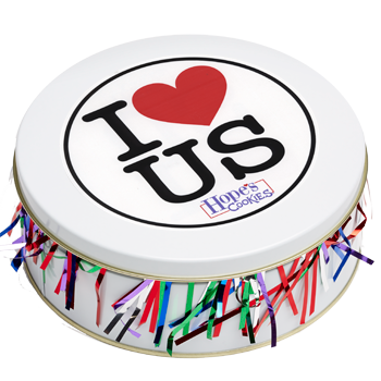 I Love Us Cookie Gift Tin