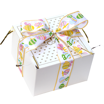 Easter Egg Ribbon Cookie Gift Box