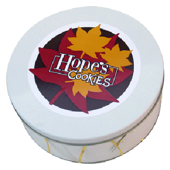 Fall Cookie Gift Tin in White