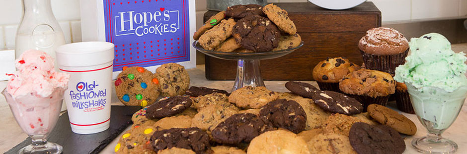 Assorted Hope's Cookies with Milkshake, Ice Cream and Gift Packages at Rosemont Store